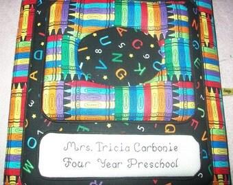 School Days / Memory Book - Personalized Fabric Photo Album / Scrapbook - No Lace
