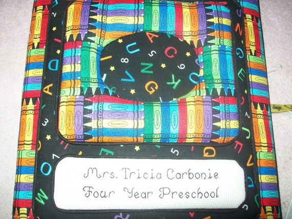 School Days / Memory Book - Personalized Fabric Photo Album / Scrapbook - No Lace