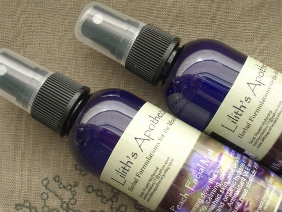 Lavender and Chamomile Hydrating Facial Mist - 4 oz - glass bottle
