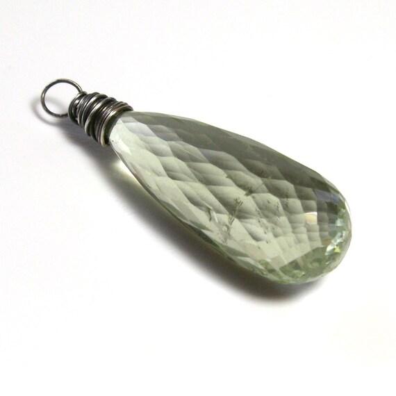 Green Amethyst Pendant . Interchangeable Pendant