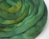 wool top spinning felting roving FOREVER GREEN 3 oz.