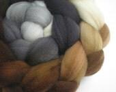 hand dyed superwash wool top spinning fiber gradient progression LITHOS 4 oz.