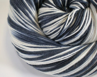 Hand dyed sock yarn superwash merino nylon fingering HONEY BADGER 460 yds.