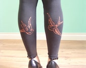 Black Swallow Footless Tights
