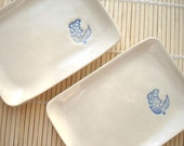 Sushi Dish Set with Lily of the Valley (KISS - Linen White)
