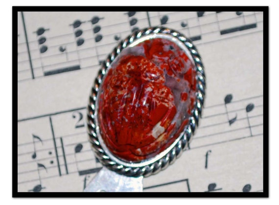Red Stone Scarab Bookmark