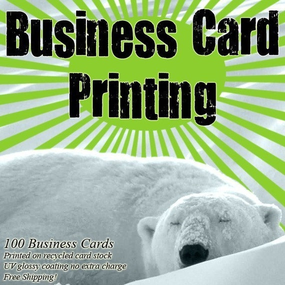 100 Business Cards with FREE Shipping