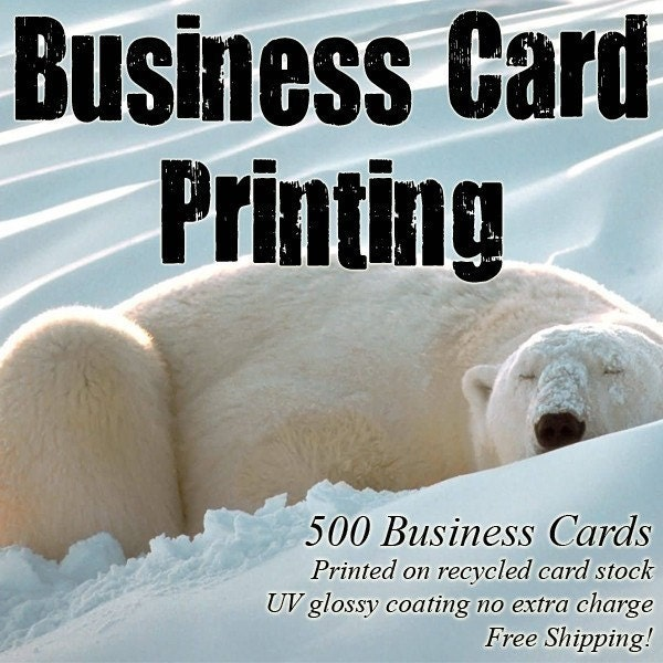 500 Business Cards with FREE Shipping