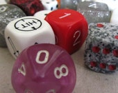 Vintage mixed dice game pieces x 19