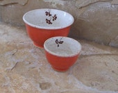 Watermelon Red Wee Stoneware Ceramic Pottery Bowls