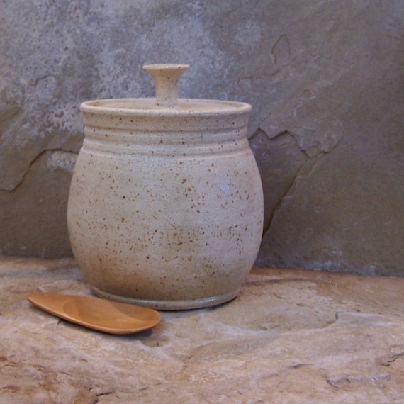 SALE - Textured White Handmade Stoneware Ceramic Pottery Canister