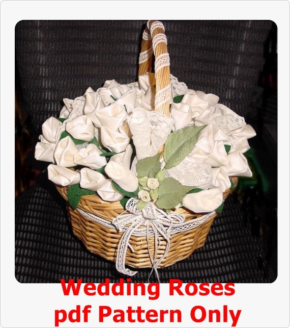 Wedding Roses for Rice Bird Seed or Candy PDF pattern only