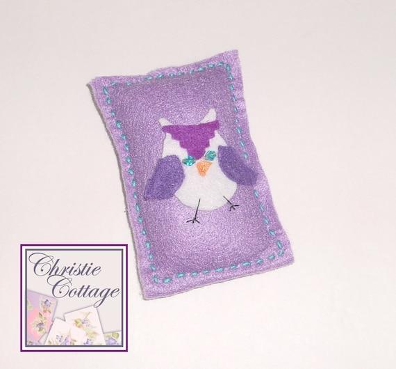 Owl Pincushion - Lavender
