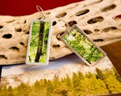 Forest photo earrings