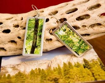 Forest photo earrings