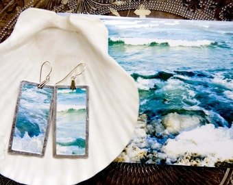 blue ocean - lightweight photo earirngs