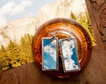 clouds - original photo earrings
