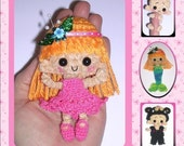 MARNIE the Pocket Size Doll Digital PDF Crochet Pattern   6th Milk Cap Cutie  by Peggytoes Mermaid Frilly Dress & Shoes Included