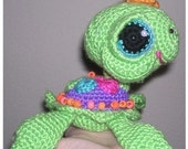 Sea & Land  TURTLE  Doll Toy Crochet Patterns in Digital PDF format TWO Sizes