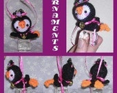 Penguin Crochet Pattern Digital Two Sizes Doll Toy and Ornament Amigurumi Stuffed Arctic Animal Toy Doll Ornament Pack