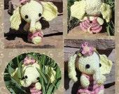 SALE Digital PDF Chiffon the Little Lemon Elephant Crochet Pattern Stuffed Doll Toy by Peggytoes