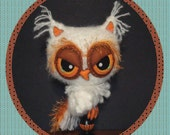 Owl Crochet Pattern in Digital PDF format Felt Eyes Candlestick Holiday Decor or Plush Stuffie Halloween Thanksgiving Christmas