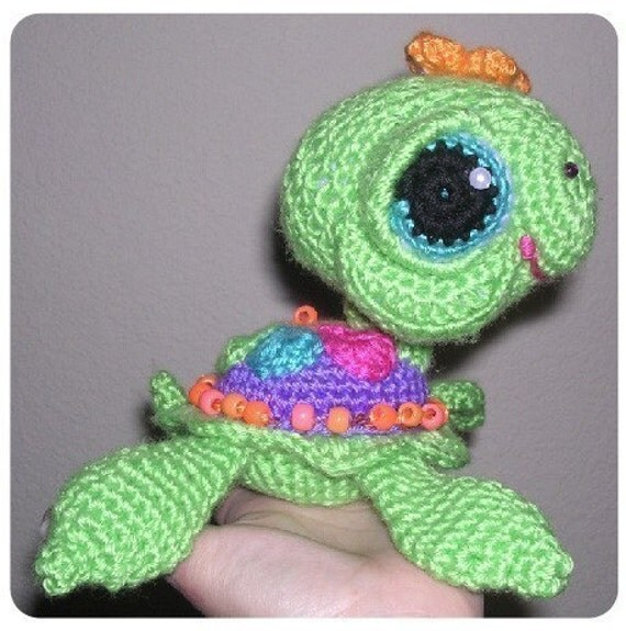 Sea & Land  TURTLE  Doll Toy Crochet Patterns in Digital PDF format TWO Sizes