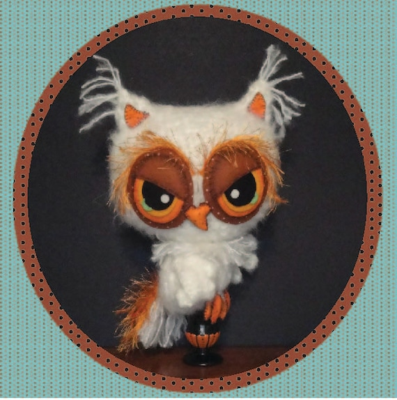 Items similar to Owl Crochet and Felt Pattern Holiday ...