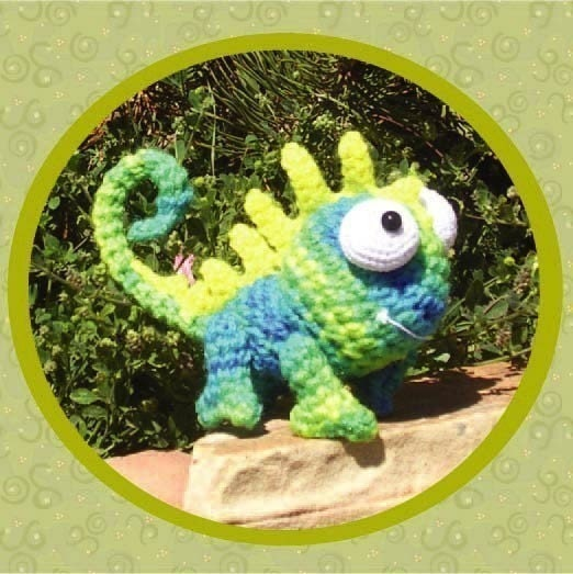 Amigurumi Halloween Free Patterns : Chameleon Crochet Pattern Digital PDF Amigurumi by Peggytoes