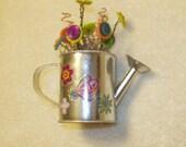 Mini Flowerpots with Button Flowers No. 5