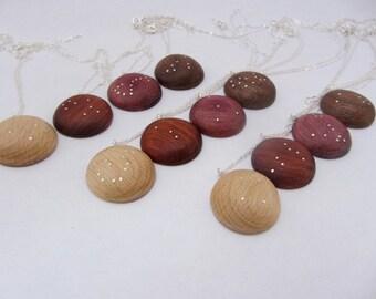 Wood Zodiac Constellation Necklace