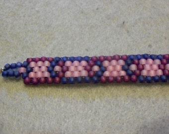 Pretty Blue Pink Burgundy Bracelet