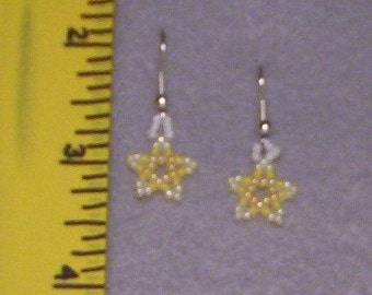 Shades of Yellow Star Earrings