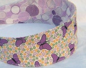 Reserved for chichimom ... Free U.S. Shipping ... Purple Butterflies Reversible Comfy Headband