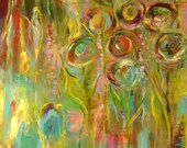 joy...Original Abstract painting by Annie Lockhart