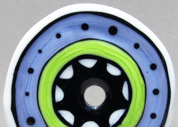 Whimsy Wheel--Handmade Lampwork Disc
