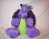 Dragon Felting  - Felting Needles Wool and German glass Eyes Included