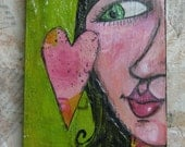Make Art Folk Art Sally Original Painting