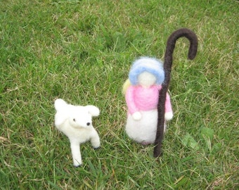 Felted Mother Goose Set Little Bo Peep Waldorf Style