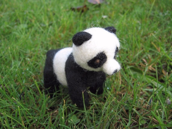 Little Panda Needle Felted Figure