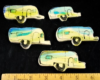 AIRSTREAM Camper Trailers... Handmade Mosaic tiles, Hand painted