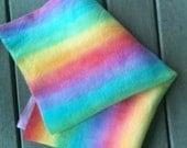 rainbows on hand painted wool felt..
