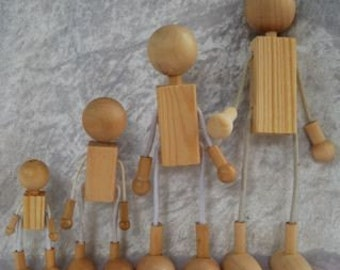 10x10cm wood and wire figures for dressing....for children's play