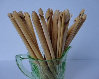 bamboo crochet hooks...various sizes