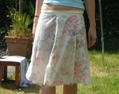 Vintage Rose Wrap Skirt - S