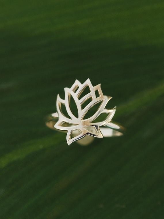 Full Lotus Flower Ring