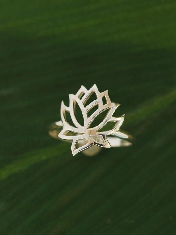 full lotus flower ring. Black Bedroom Furniture Sets. Home Design Ideas