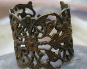 Another rare vintage brass filigree made into a ring this time..rings for the larger hand