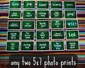 any 2 -- 5x7 art photo prints