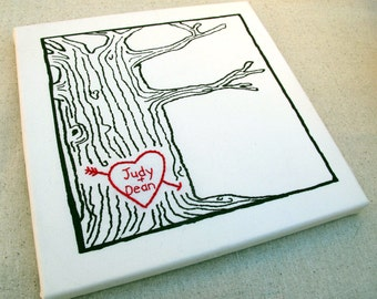 custom heart -- tree print wall art -- personalized tree with initials, personalized gifts, make it personal, tree heart initials, cozyblue